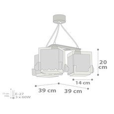 Παιδικό φωτιστικό οροφής Ango 63534
