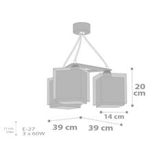 Παιδικό φωτιστικό οροφής Ango 63394