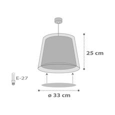 Παιδικό φωτιστικό οροφής Ango 81212L