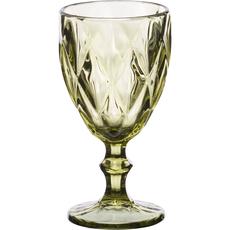 Ποτήρια κρασιού Cryspo Trio καρέ green