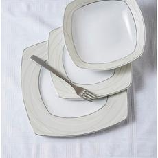 Σερβίτσιο πιάτων Cryspo Trio Riva με πλατίνα