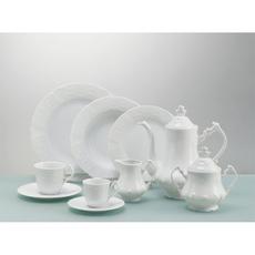 Σερβίτσιο πιάτων Cryspo Trio Regina λευκό