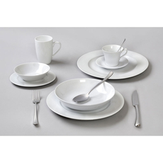 Σερβίτσιο πιάτων Cryspo Trio Bonito White